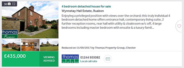 Premium property listing on Rightmove