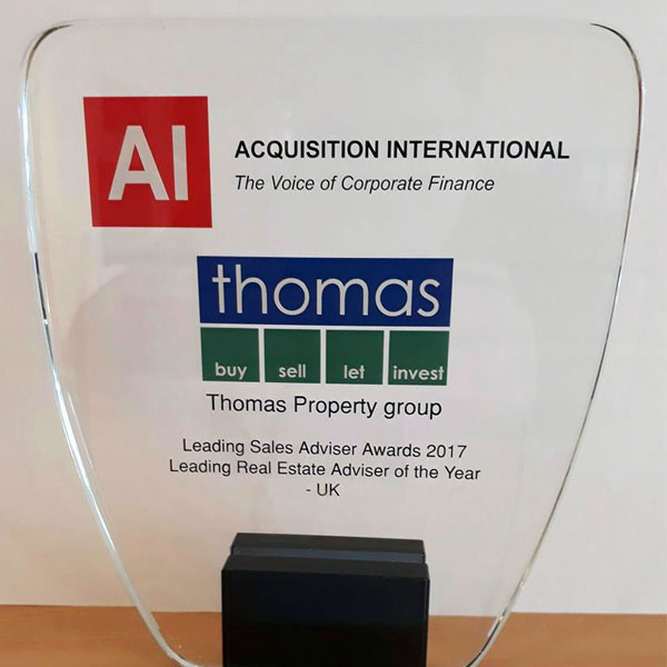 Acquistion International trophy for Leading Sales Advisor 2017